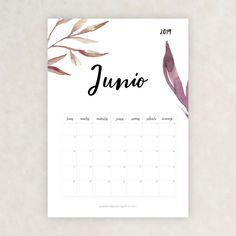 calendario 2019 junio School Timetable, Bullet Journal 2019, Moon Painting, Girl Meets World, School Hacks, Free Printables, Diy And Crafts, Notebook, Lettering