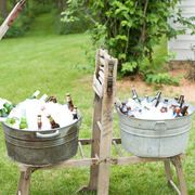 vintage wash tubs for drinks
