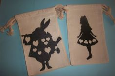 Alice in Wonderland Silhouettes/ Party Bags by cmg03301 on Etsy, $6.00