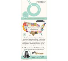 Modern Map Door hanger Real Estate Agent  REALTOR by Ladyluckpr Real Estate Sign Design, Real Estate Signs, Money Making Machine, Lost Money, One Team, Door Hangers, I Am Awesome, Give It To Me, Branding