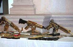 Drug Dealers' golden ARs ready for auction.