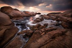 Sunset after a dark cloudy day on the Cape West Coast - Paternoster Sunset Take A Breath, Cloudy Day, West Coast, Nature Photography, Africa, Deviantart, World, Water, Instagram Posts