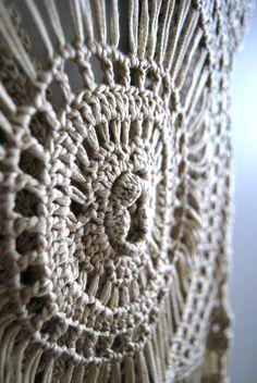 The Abby Top Vintage 60s 70s Crochet Lace Boho por WinstonVintage