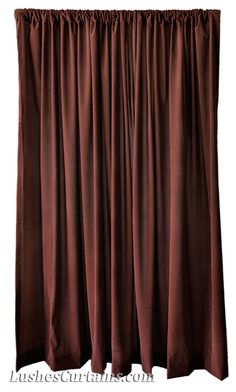 Brown Velvet Drape 144 High Curtain Extra Long Panel Drapery Large Window Treatment Tall Wall Stage Backdrop Room Divider Partition Display