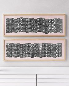 A picture perfect way to display wedding guest photobooth strips after the wedding. kb notes- I don't have that many photo strips at this point. But it looks cool.