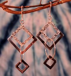Sterling Silver Square Chainmaille Earrings by UrpiPeruvianMarket