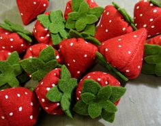 Felt Food Strawberries by lilliannamarie on Etsy, $10.00