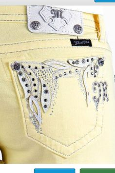 Yellow miss me shorts <3