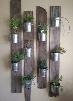 House plants indoor - Creative Ways to Make Your Indoor Herb Garden Today Hanging Herb Gardens, Hanging Herbs, Vertical Gardens, Herb Garden Design, Garden Ideas, Herbs Garden, Garden Pots, Pebble Garden, Garden Walls