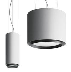 """Ourea"" suspension lamp in grey and black | lighting . Beleuchtung . luminaires | Design: Artemide Inc. |"