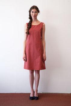 Knielange Kleider - Kleid von Claire Massieu - ein Designerstück von louloute_munich bei DaWanda
