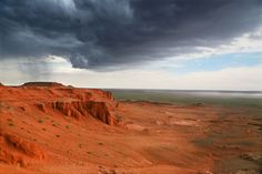 Storm At The Red Cliff, Mongolia