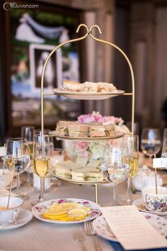 Tea sandwiches display for cocktail hour