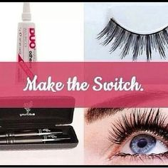 False eyelashes can do permanent damage to your eyelashes.  3D fiber mascara washes off easily and gives you the length and fullness of false eyelashes. www.fancylashnancy.com