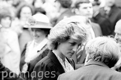 May 20, 1985:  Princess Diana during a visit to the Special Burns unit at Pinderfields Hospital in Wakefield, where she saw some of the casualties of the Bradford City fire disaster.