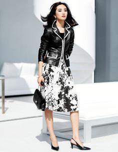 Der luftige Rock wird durch den markanten Print zum Eyecatcher der trendigen Garderobe.