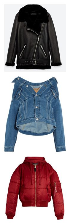 """Jackets & Coats"" by angeloobri on Polyvore featuring outerwear, jackets, coats, zara, jakke, motorcycle jacket, biker jackets, rider jacket, faux fur collar jacket and tops"