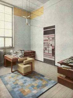 Walter Gropius' office in the first Bauhaus building, Weimar, 1923