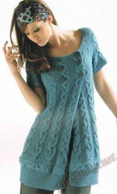 Love this concept ~ extra wide sweater, buttonhole it and what an awesome dress