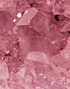 rose quartz crystal ❦ CRYSTALS ❦ semi precious stones ❦ Kristall  ❦ Minerals ❦   Cristales ❦