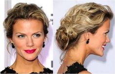 Perfect messy updo - Brooklyn Decker can carry anything off though :)