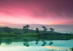 Morning Colours (by PeterYoung1)  Source: Flickr / peter-young  #landscape #reflection #nature