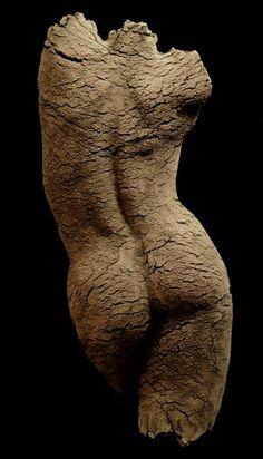 'Life Map' (2013) by Swiss sculptor Eva Antonini. Stoneware, 75 x 30 x 15 cm. via the artist's site