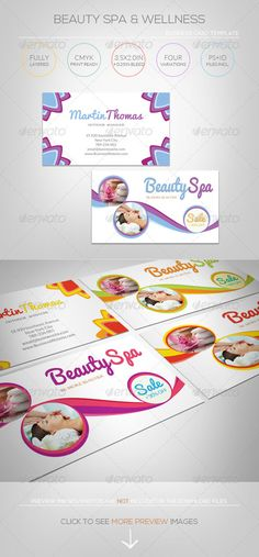 Beauty Spa & Wellness - Business Card Template #GraphicRiver [ Corporate Business Card – Beauty Spa & Wellness] includes: 3.5×2.0 in + 0.25in Bleed 300DPI CMYK Print Ready 4 color variations : Orange green/Fresh Blue/Pinky Purple/Active Yellow Fully Layered Photoshop CS2or higher – PSD file Fully Layered InDesign CS4 or higher – INDD/IDML files 3 file formats (psd&indd&idml) for your convenience. Free font download links attached Preview images not included, for illustration only. Exclusive…