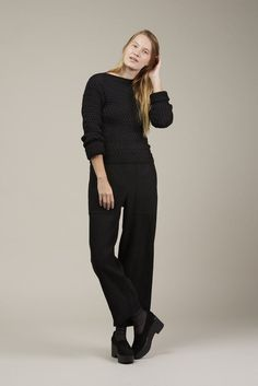 Fitted cable knit sweater by LEMAIRE @ Kick Pleat - 1