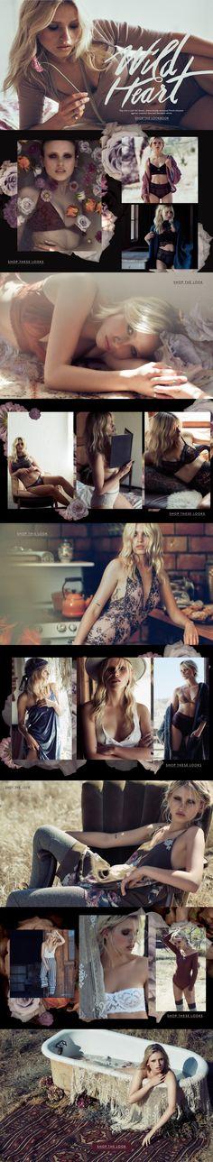 Wild Heart Intimates Lookbook | Editorial Design | Fashion |  Graphic Design