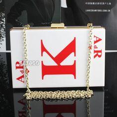 New Womens Hearts King Poker Pattern Perspex Clutch Evening Bag Handbag Purse  #NA #Clutch