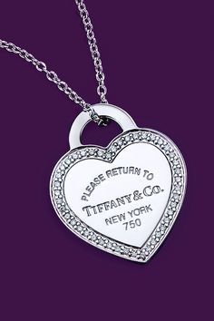 Her first Blue Box? Get to the heart of the matter with a sterling silver heart … Her first Blue Box? Get to the heart of the matter with a sterling silver heart tag pendant from the Return to Tiffany® collection, sure to be cherished forever. Tiffany Jewelry, Tiffany Necklace, Tiffany Girls, Tiffany & Co., Jewellery Uk, Jewelery, Jewelry Necklaces, Return To Tiffany, Bridal Jewelry