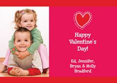Valentine Heart Photo Cards would be perfect to send out since we missed getting a Christmas card sent out this year.