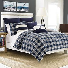 Nautica Eddington Comforter Set, King, Navy #Nautica