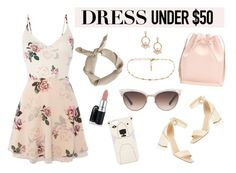 """""""Untitled #24"""" by cassiessins on Polyvore featuring Lipsy, Gucci, Oasis, David Jones, FOSSIL, Mansur Gavriel, Trina Turk, ootd, summer2016 and Dressunder50"""