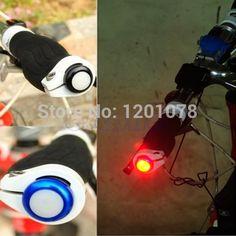1 Par Ciclismo Seguridad de la Bici Señal de Vuelta de la Manija Bar End Plug LED Rojo Lámpara de Luz Caliente