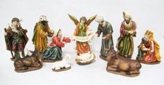 Heaven's Majesty Nativity Figure Set-With Holding Jesus! Beautiful 11 piece nativity figure set where Mary or Joseph can hold the Baby Jesus! From the beloved Heaven's Majesty Brand. Nativity Sets, Baby Jesus, Hold On, Heaven, Painting, Art, Art Background, Sky, Painting Art