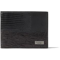 Salvatore Ferragamo US Bifold Wallet (760 CHF) ❤ liked on Polyvore featuring men's fashion, men's bags, men's wallets et black