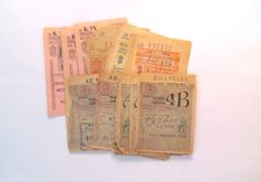 1950 petrol coupons: pack of 40 by PinkFlamingoEphemera