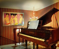 A XVIII century piano  in our hotel.  hotel@hotelrisco.com