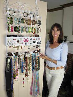 jewelry storage solutions | Longstem Door Jewelry Organizer Earring Storage Rack  sc 1 st  Pinterest & 25 best crafts images on Pinterest | Jewelry storage Jewellery ...