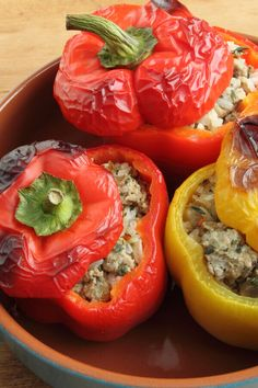 Armenian Stuffed Peppers - A combination of ground beef and lamb is used in the stuffing for this recipe. Mixed with rice, tomato, onions, and seasonings it makes a delicious filling. Green Pepper Recipes, Ground Lamb, Ground Beef, Vegetarian Lettuce Wraps, Kebab Recipes, Beef Recipes, Onion Recipes, Armenian Recipes, Rice