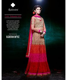 #Hues of #red with #Frill #Concept #Georgette #Anarkali #Suit by #Kimora: #Rukmini 307   #wedding  Price Rs. 6999.00  US $117