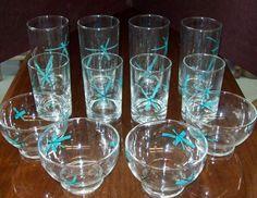 Vintage Mid Century Modern Salem North Star Starburst Glasses