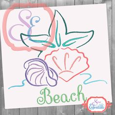 INSTANT DOWNLOAD Under the Sea Design For Machine Embroidery Starfish Seashell Beache Summer Designs by SewEmbroidable on Etsy