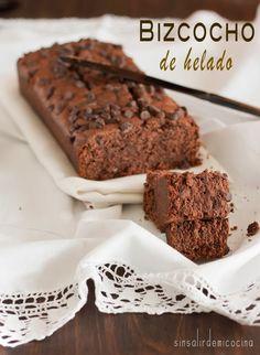 SIN SALIR DE MI COCINA: BIZCOCHO DE HELADO (de chocolate)