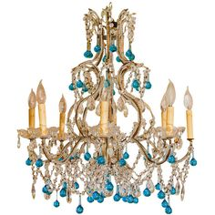 VINTAGE TURQUOISE CHANDELIER - 1stdibs found on Polyvore