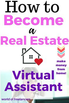 Real Estate Assistant, Virtual Assistant Services, Real Estate Jobs, Real Estate Video, Earn Money From Home, How To Make Money, How To Become, Motivational Skills, Virtual Receptionist