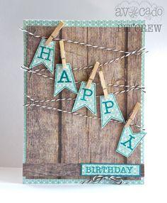 Manly Happy Birthday Card