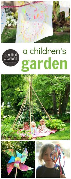Lots of fun garden garden crafts for kids that they can make in and for the garden as well as some nature arts and crafts ideas.